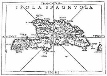 Mapa-de-la-Isla-Hispaniola-del-siglo-XV